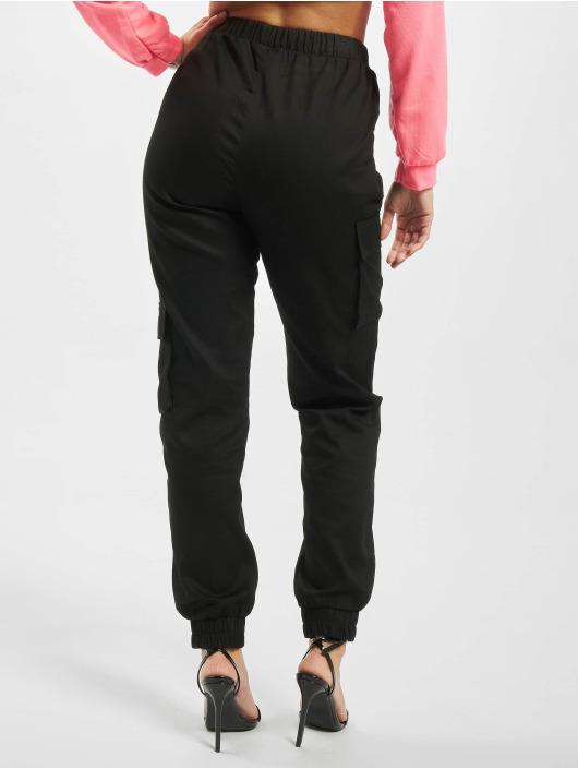 Missguided Spodnie do joggingu Co Ord Twill czarny