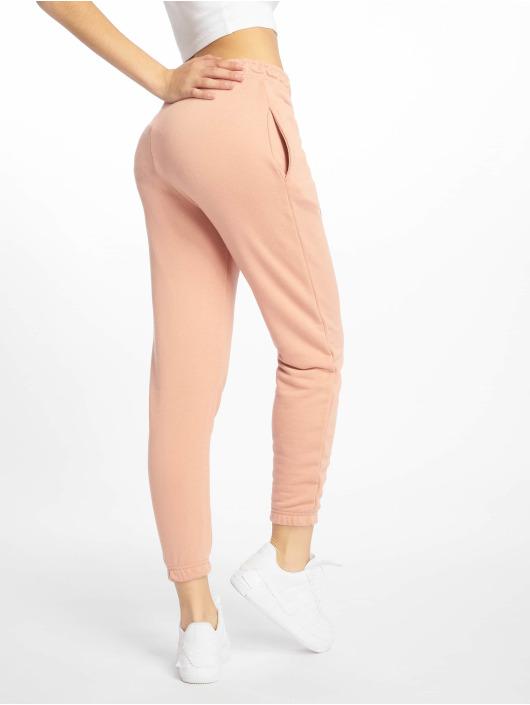 Missguided Spodnie do joggingu Petite Dusky Pink Basic rózowy