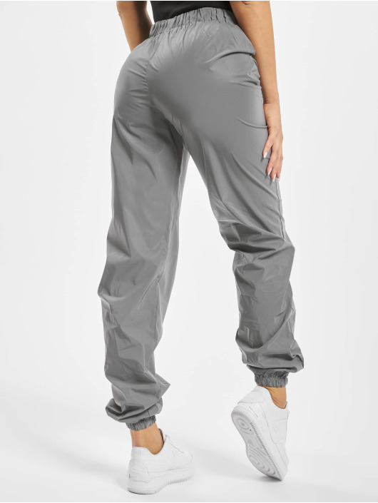 Missguided Spodnie do joggingu Reflective srebrny