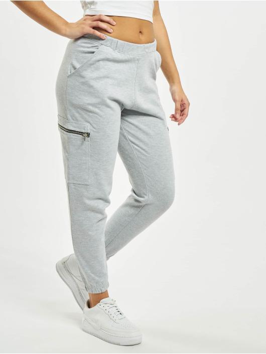 Missguided Spodnie do joggingu Pocket Detail High Waist szary