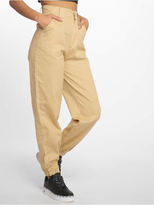 Missguided Spodnie wizytowe Slim Leg bezowy