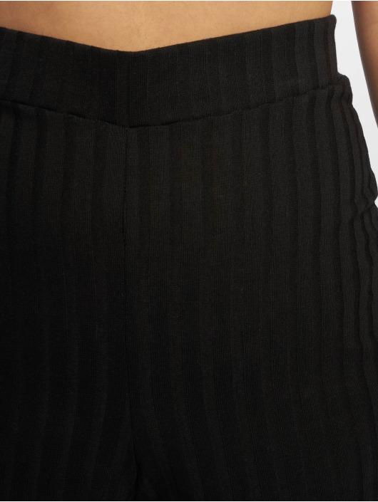 Missguided Spodnie wizytowe Rib Wid czarny