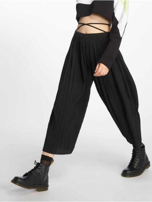 Missguided Spodnie wizytowe Petite Pleated czarny