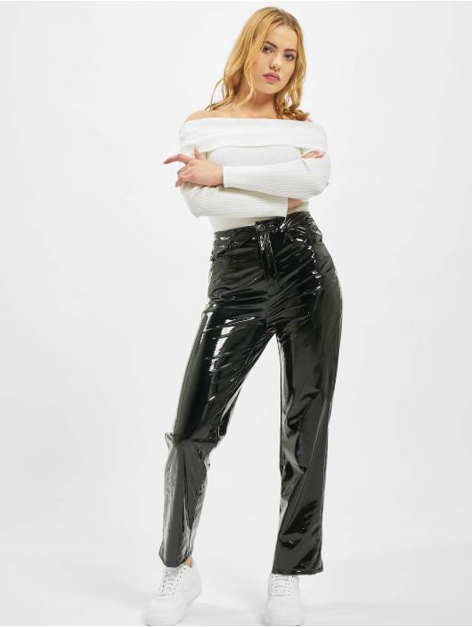 Missguided Spodnie wizytowe Vinyl Cigartte czarny