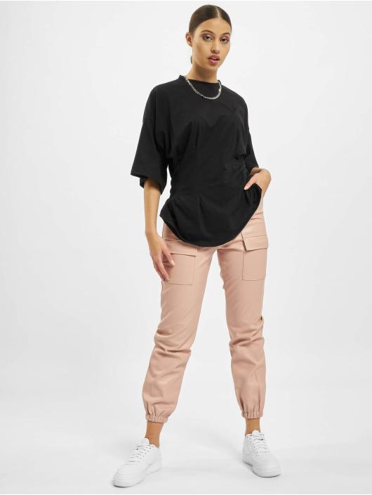 Missguided Spodnie wizytowe Pocket Detail Pu Utility rózowy