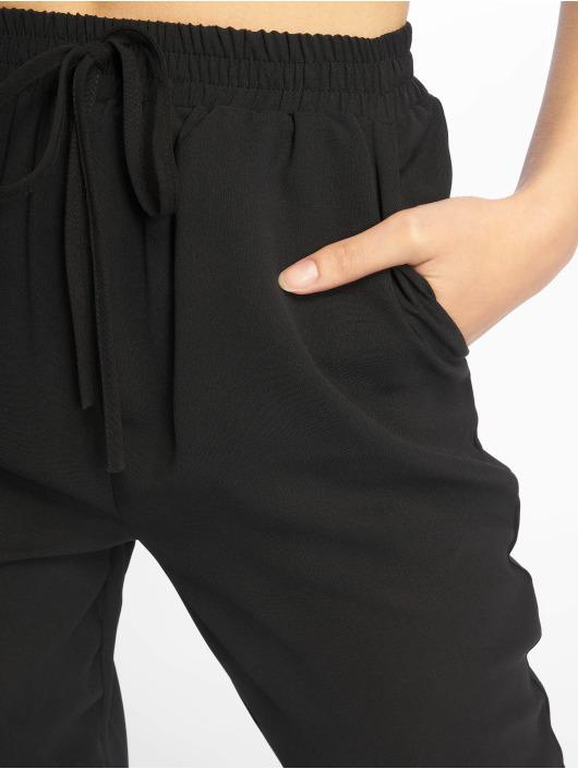 Missguided Stoffbukser Black Tie Waist svart