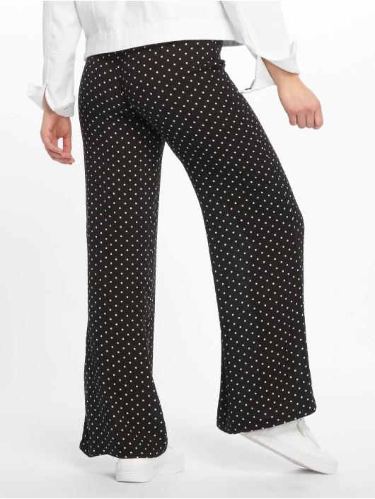 Missguided Stoffbukser Black Cheesecloth Polka Dot Wide Leg svart
