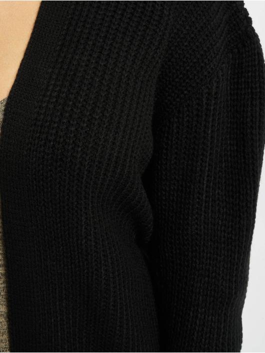 Missguided Strickjacke Belted Maxi schwarz