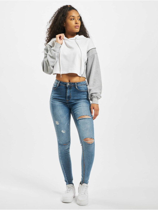 Missguided Sudadera Co Ord Reflective Contrast blanco