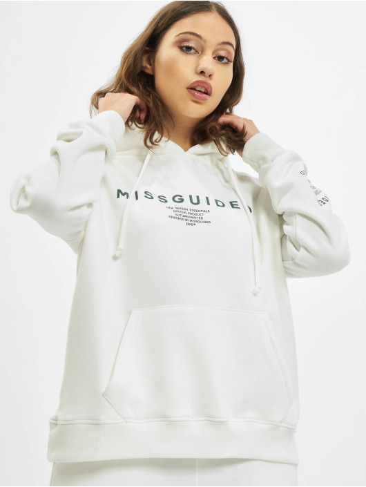 Missguided Sudadera Mishort Sleeveguided Branded blanco