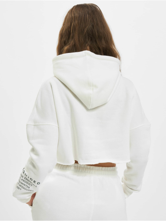 Missguided Sudadera Mishort Sleeveguided Branded Cropped blanco