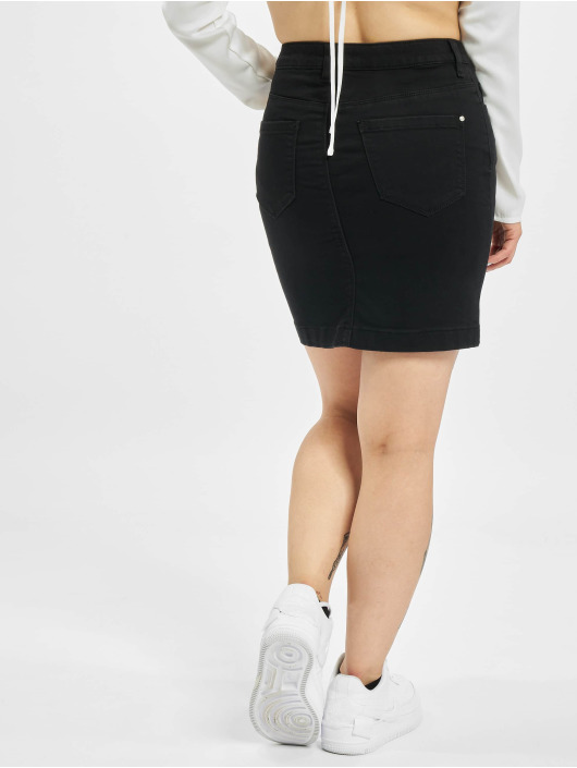 Missguided Sukňe Denim Super Stretch Mini èierna