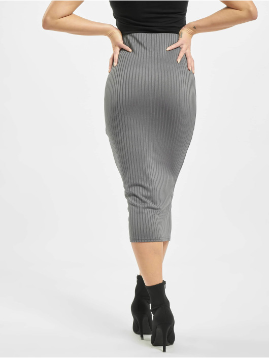 Missguided Sukňe Co Ord Ribbed šedá