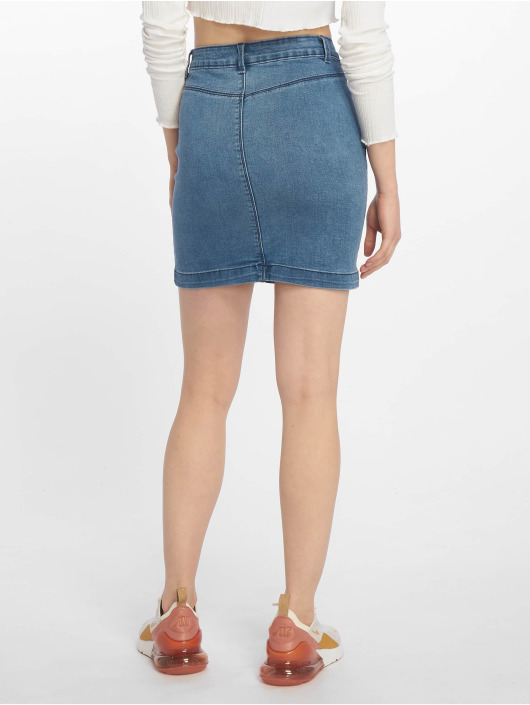 Missguided Sukňe Super Stretch Denim Mini modrá