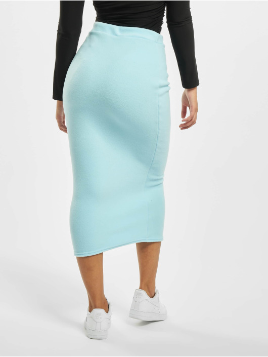 Missguided Sukňe Fleece Tie Waist Midi Co-Ord modrá