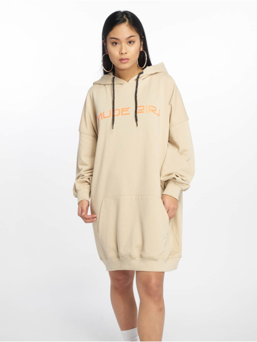 Missguided Sukienki Nude Girl bezowy