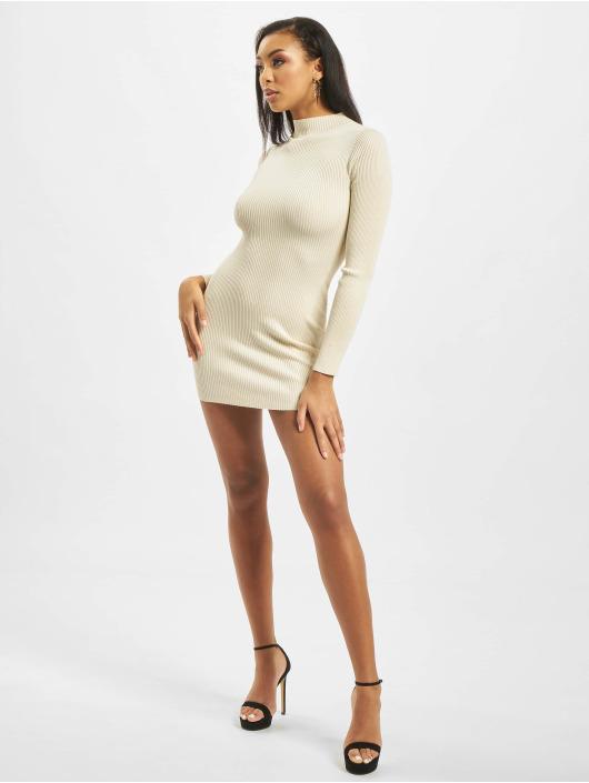 Missguided Sukienki High Neck Knitted bezowy