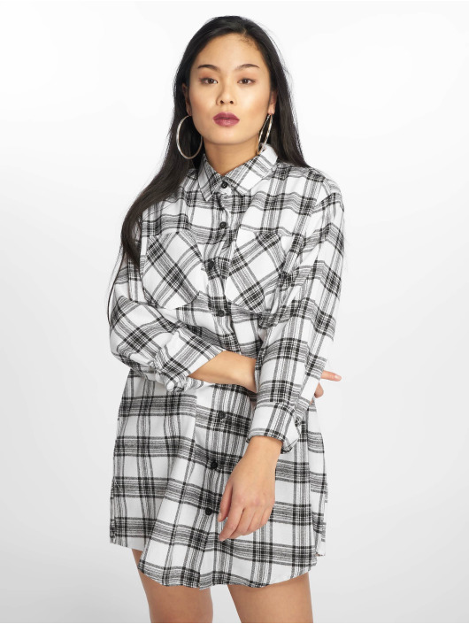 Missguided Sukienki Oversized bialy