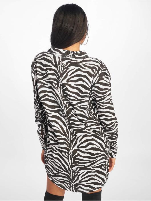 Missguided Sukienki Oversized Jersey bialy