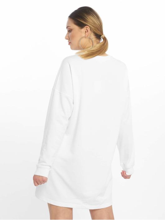 Missguided Sukienki Basic Sweater bialy