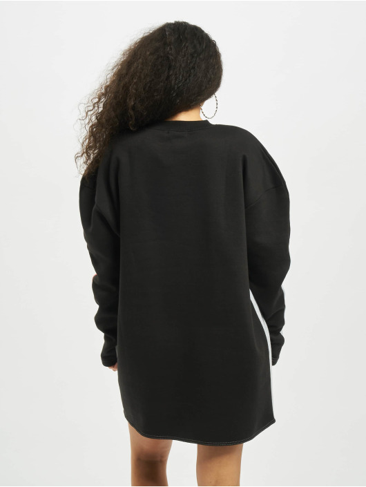 Missguided Sukienki Colour Block Sweater V bialy