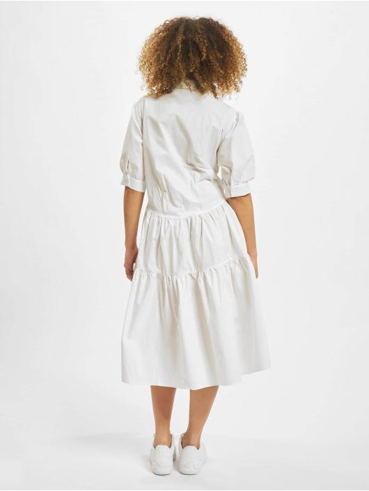 Missguided Sukienki Extreme Oversized Shirt Smock bialy