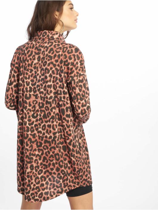 Missguided Sukienki Oversized Jersey brazowy