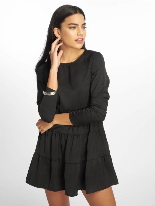 Missguided Sukienki Long Sleeve Smock czarny