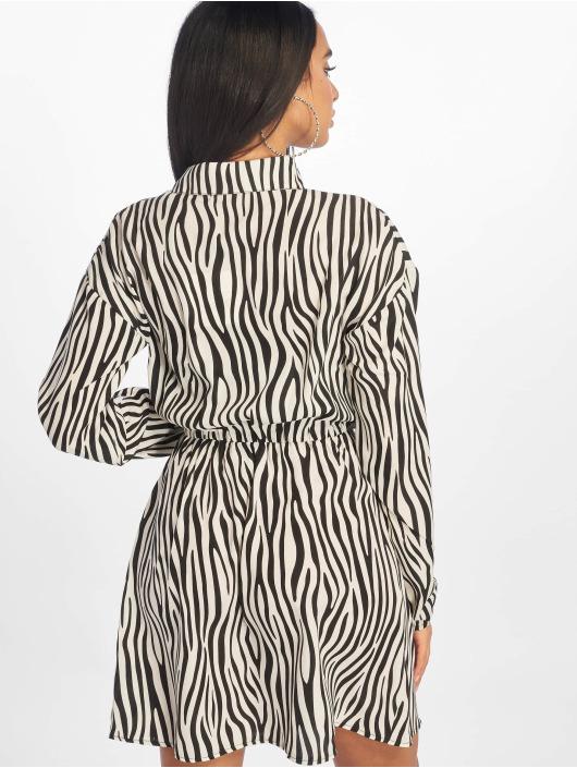 Missguided Sukienki Tie Waist Ls Shirt czarny