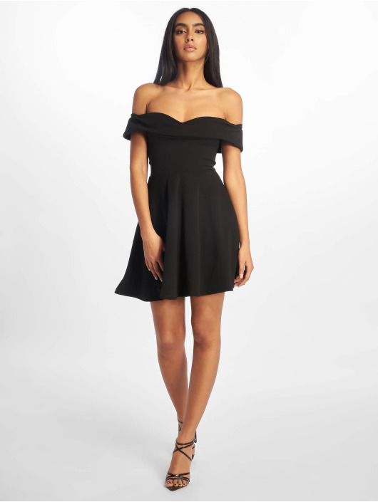 Missguided Sukienki Bardot Skater czarny
