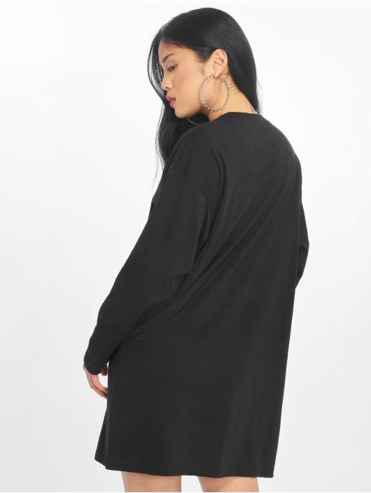 Missguided Sukienki Oversized Zip Front Ls czarny