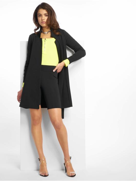 Missguided Sukienki Long Sleeve Belted Blazer czarny