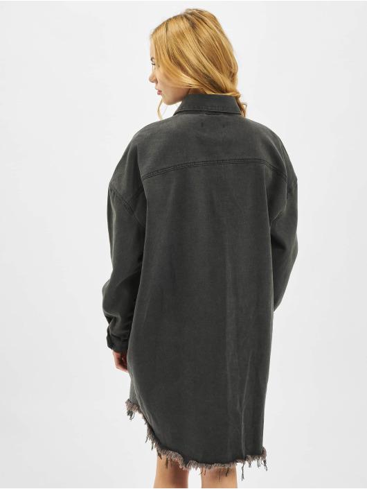 Missguided Sukienki Oversized Denim czarny