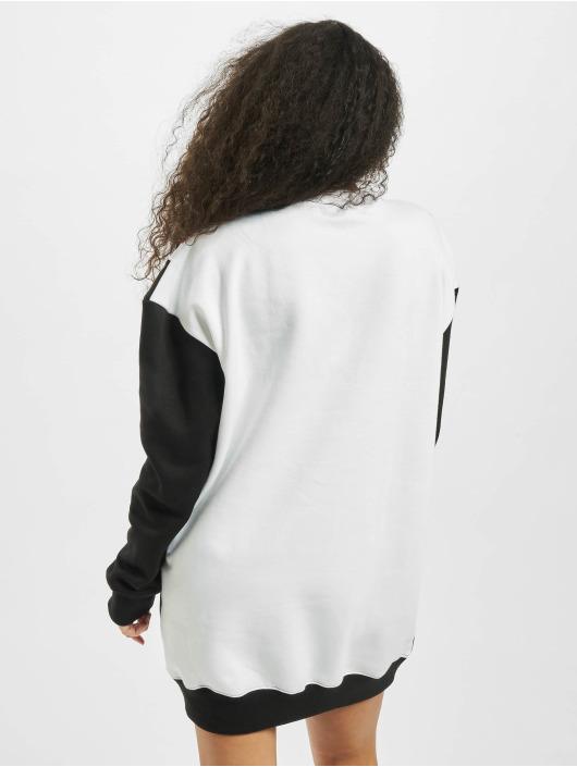 Missguided Sukienki Colour Block Sweater V czarny