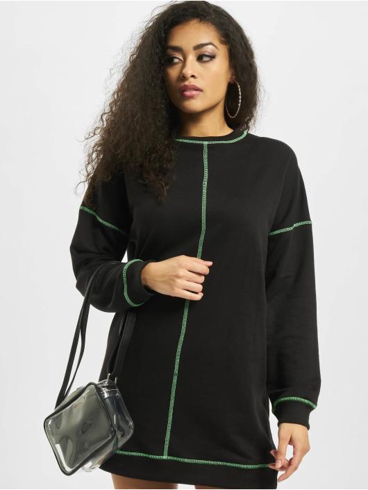 Missguided Sukienki Neon Contrast Stitch Longsleeve czarny