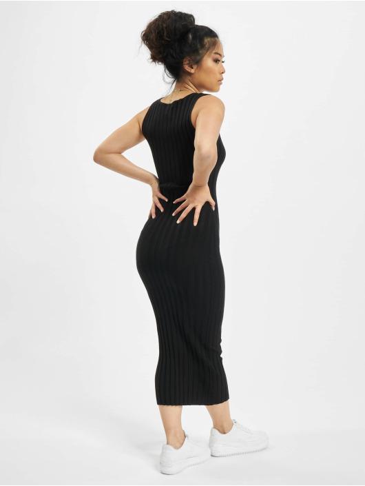 Missguided Sukienki Knitted Rib czarny