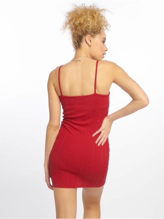 Missguided Sukienki Strappy Square Neck Bandage Bodycon czerwony