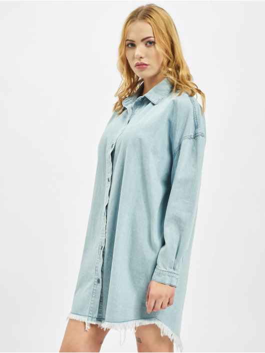 Missguided Sukienki Oversized Denim niebieski