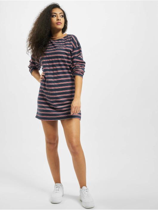 Missguided Sukienki Oversized Longsleeve T-Shirt Stripes niebieski