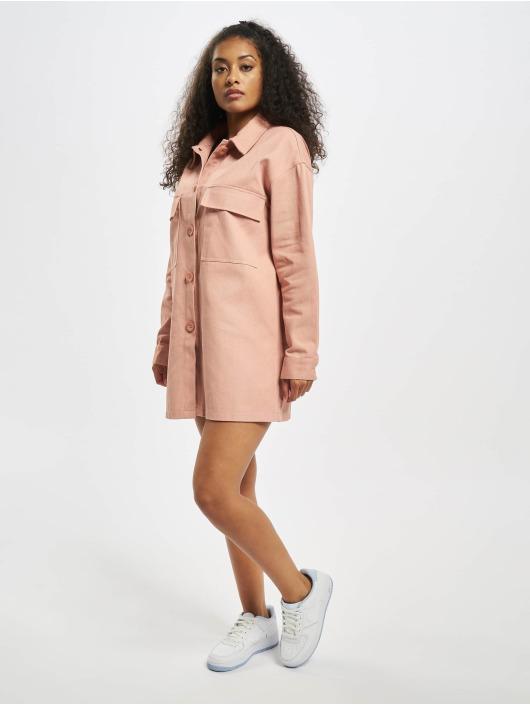Missguided Sukienki Utility Pocket Denim pink