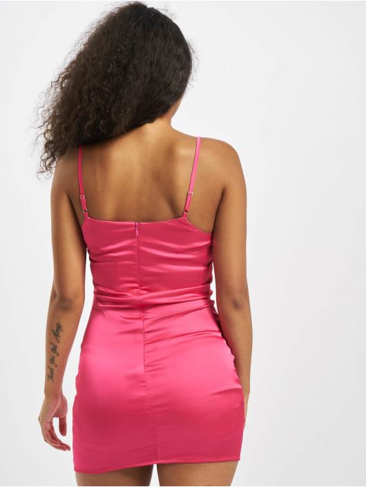 Missguided Sukienki Petite Satin Slip pink