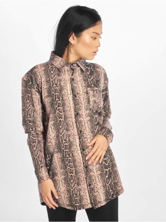 Missguided Sukienki Oversized Ls Jersey rózowy