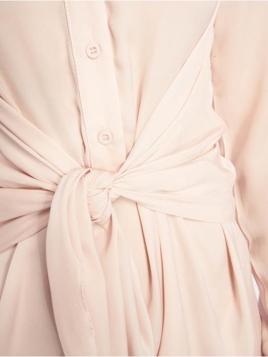 Missguided Sukienki Tie Waist rózowy