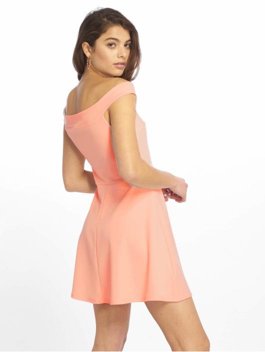 Missguided Sukienki Bardot Skater rózowy