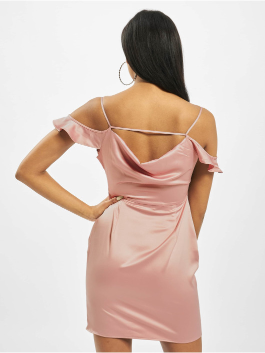 Missguided Sukienki Cowl Cold rózowy