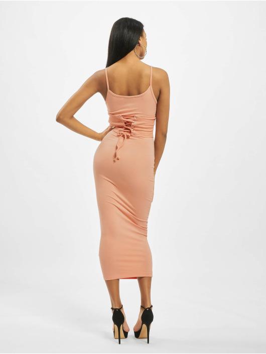 Missguided Sukienki Rib Underbust Corset rózowy