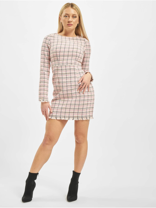 Missguided Sukienki Tweed Shift rózowy