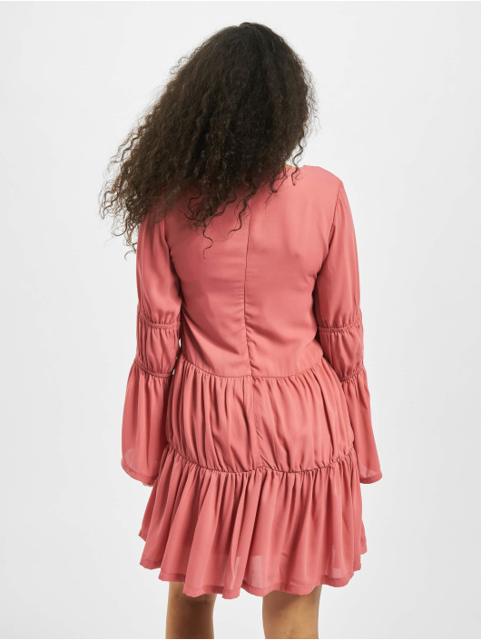 Missguided Sukienki V Neck Tiered Smock rózowy