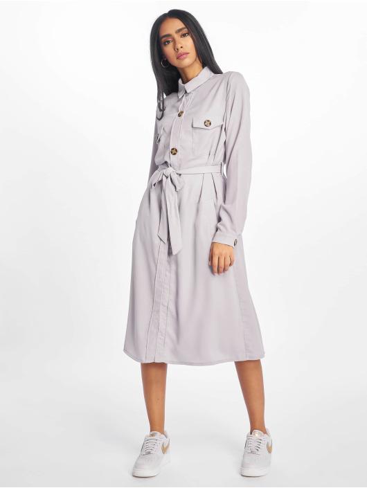 Missguided Sukienki Utility Shirt szary