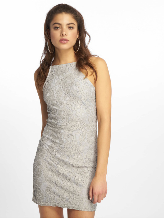 Missguided Sukienki Lace Square Neck szary